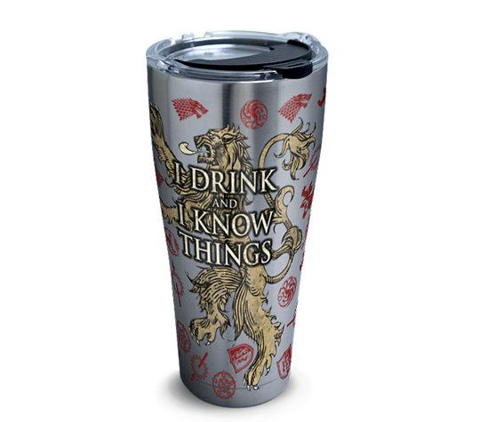 "Game of Thrones ""I Drink and I Know Things"" 30 oz. Stainless Steel Tervis Tumbler- Kryptonite Character Store"