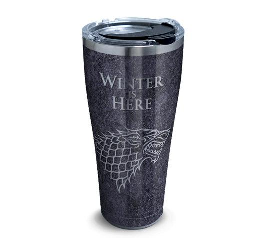 "Game of Thrones ""Winter is Here"" 30 oz. Stainless Steel Tervis Tumbler- Kryptonite Character Store"