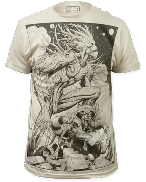Guardians of the Galaxy Groot and Rocket Art Shirt