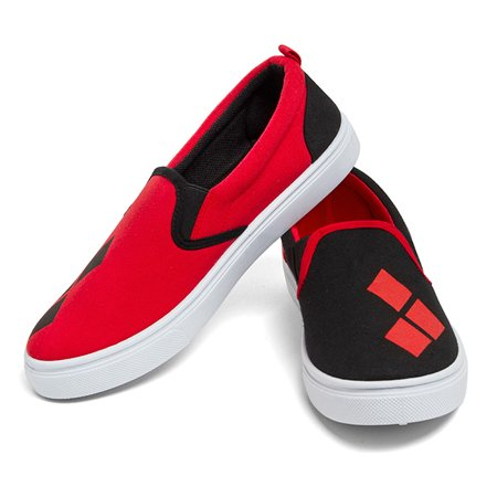 DC Comics Harley Quinn Slip on Sneaker -  Kryptonite Character Store