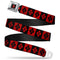Harley Quinn Diamond Full Color Seat Belt Buckle Belt - Kryptonite Character Store