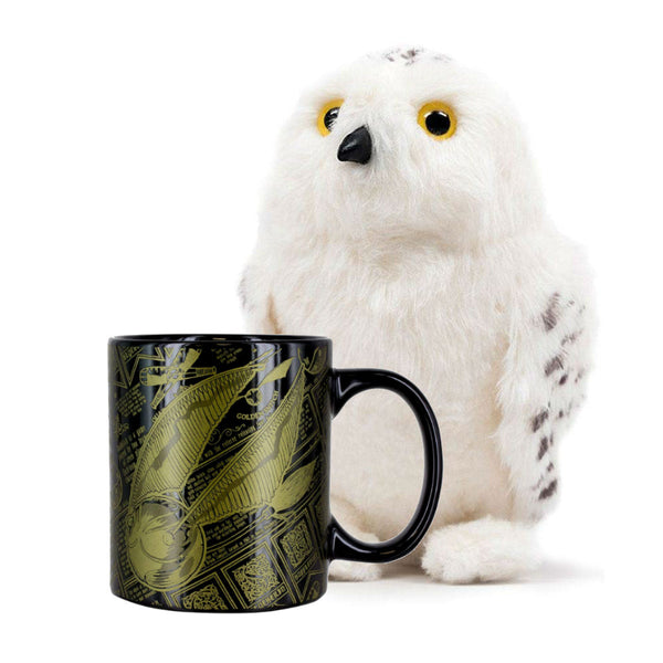 Harry Potter Hedwig Plush and Golden Snitch Mug Set - Kryptonite Character Store