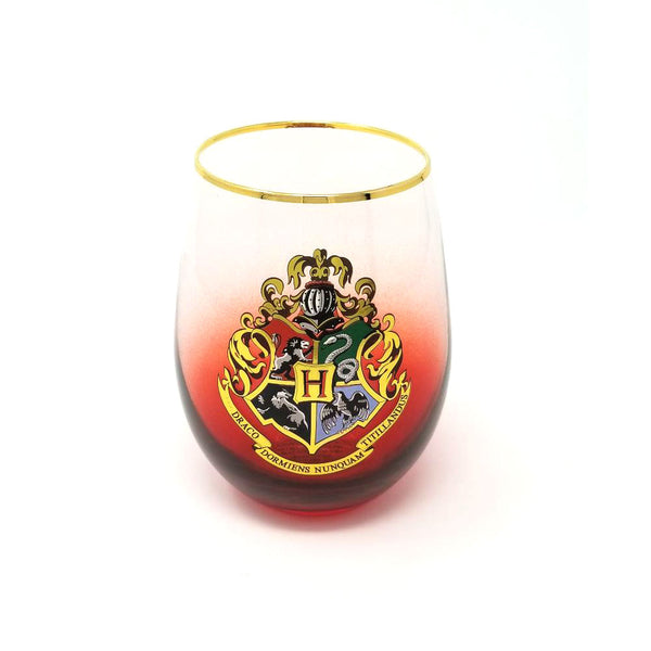 Harry Potter - Hogwarts Crest - Stemless Wine Glass