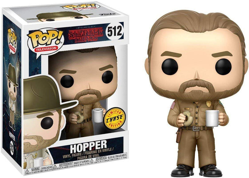 Funko Pop- Netflix - Stranger Things Jim Hopper CHASE Variant Vinyl Figure