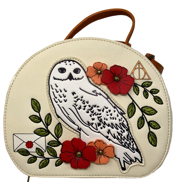 Harry Potter - Hedwig the Owl Floral Crossbody Bag Purse
