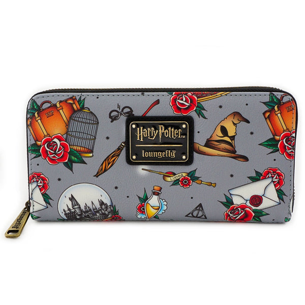 Harry Potter x Loungefly Tattoo Allover Wallet - Kryptonite Character Store