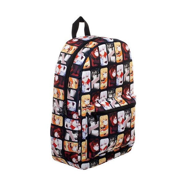 Anime Style Ruby, Weiss, Blake, Yang Characters Sublimated School Bookbag Backpack