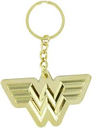 DC Comics Wonder Woman 1984 Logo Gold Keyring