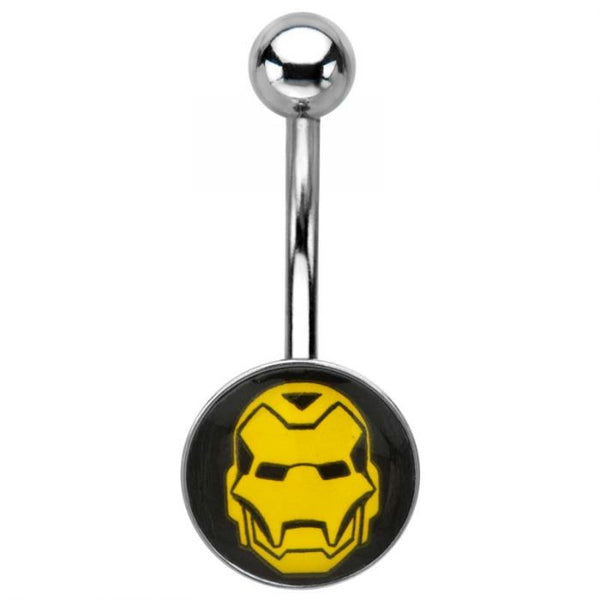 14g 7/16 316L Stainless Steel Iron Man Face Logo Navels