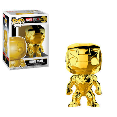 Funko Pop Marvel Studios 10 - Iron Man (Gold Chrome) Collectible Figure