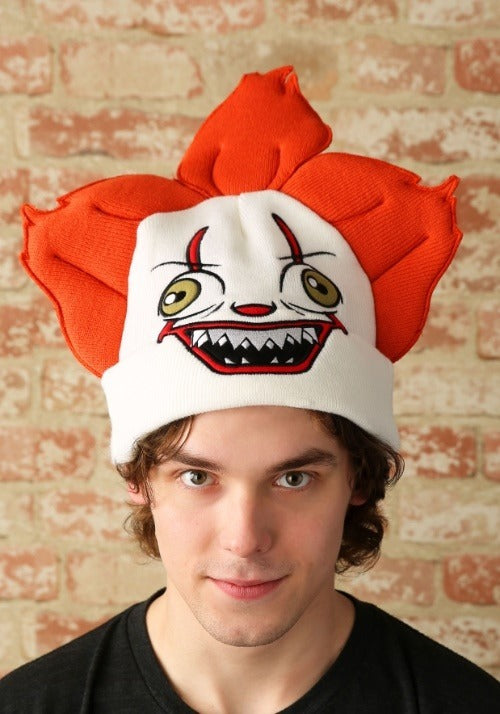 Adult IT Pennywise Clown Big Face Beanie