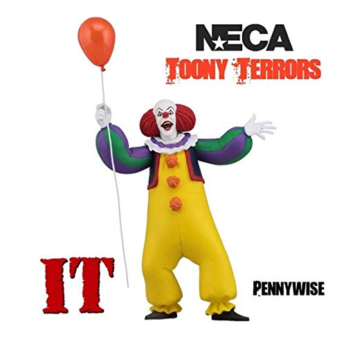 "Toony Terrors - IT – 6"" Scale Action Figure - Stylized Pennywise (1990)- Kryptonite Character Store"