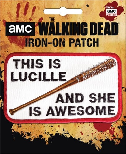The Walking Dead Lucille Iron-On Patch