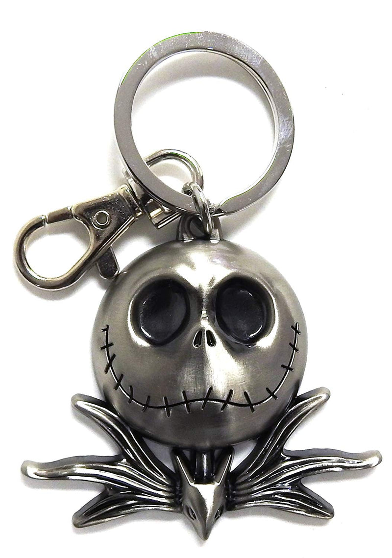 Nightmare Before Christmas Jack Head Pewter Key Ring