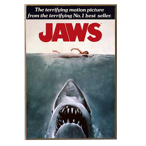 Jaws - Movie Poster Wood Wall Decor, 13 in. x 19 inches