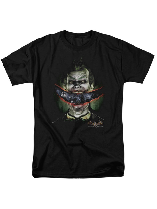 Batman Arkham Asylum DC Comics Joker Crazy Lips Adult T-Shirt Tee