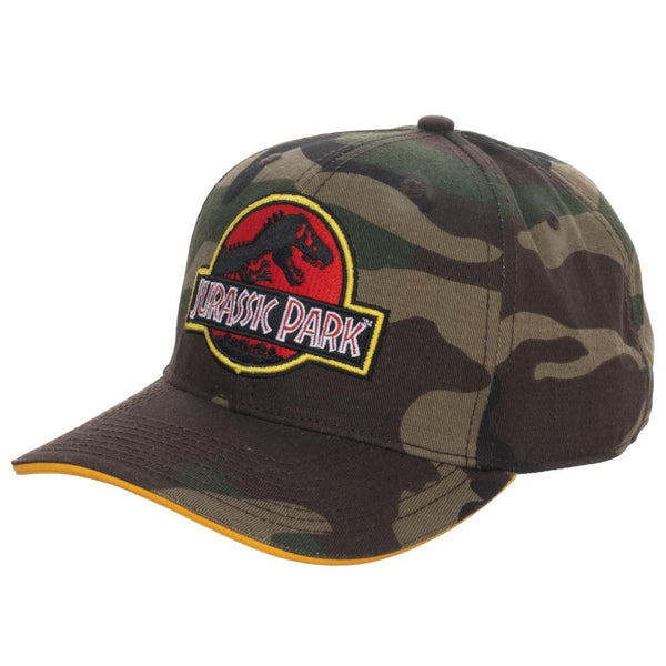 Jurassic Park - Camo Pre-Curved Snapback Hat
