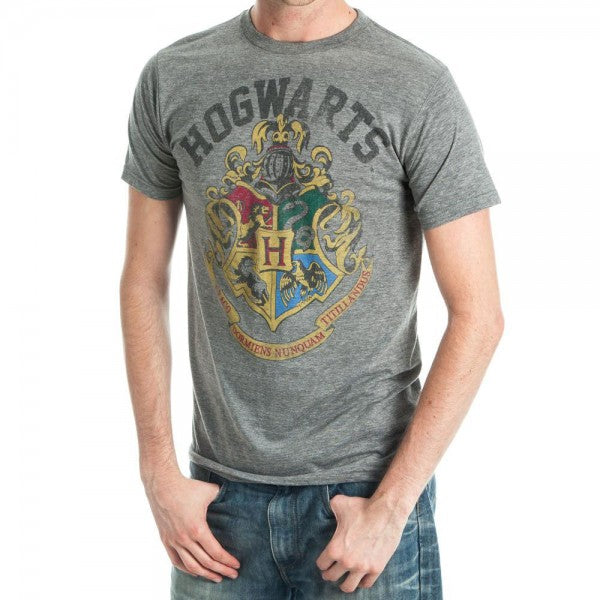 Hogwarts Harry Potter Crest Unisex Heather T-shirt