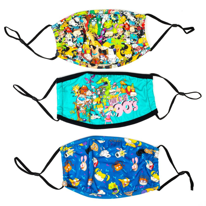 Nickelodeon 90s 3 Pack Adjustable Face Covers