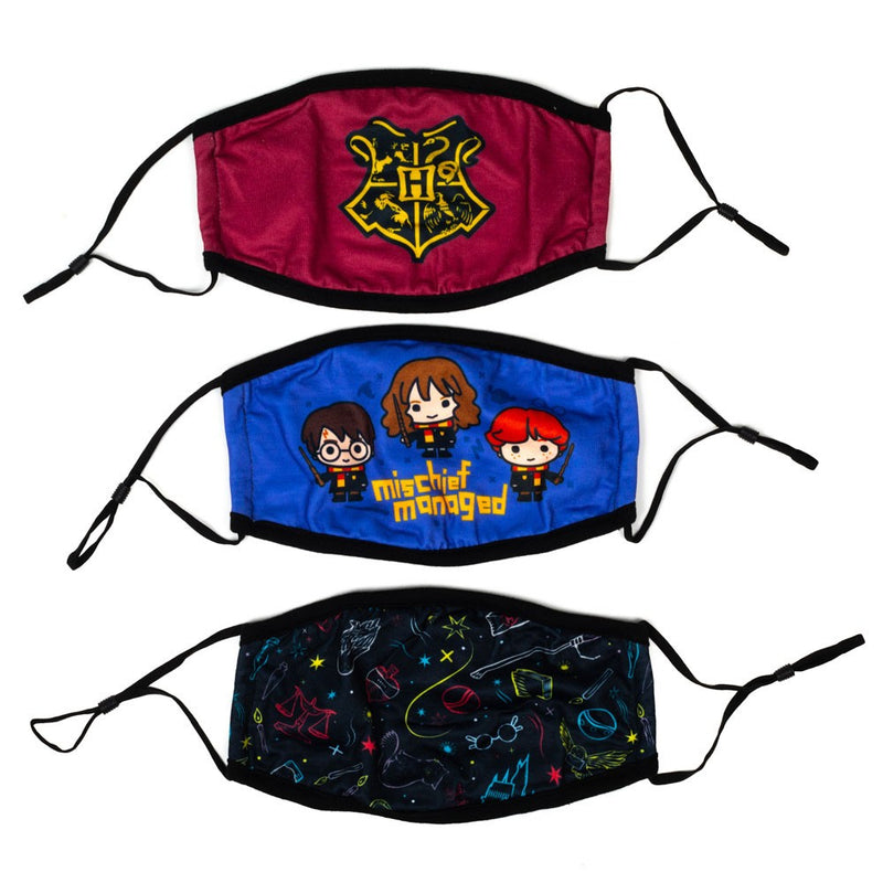 Harry Potter 3 Pack Adjustable Face Covers