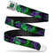 Joker HAHA Stacked Full Color Black/Grey/Green Belt- Kryptonite Character Store