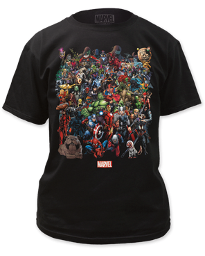 Marvel Universe Characters Adult T-shirt
