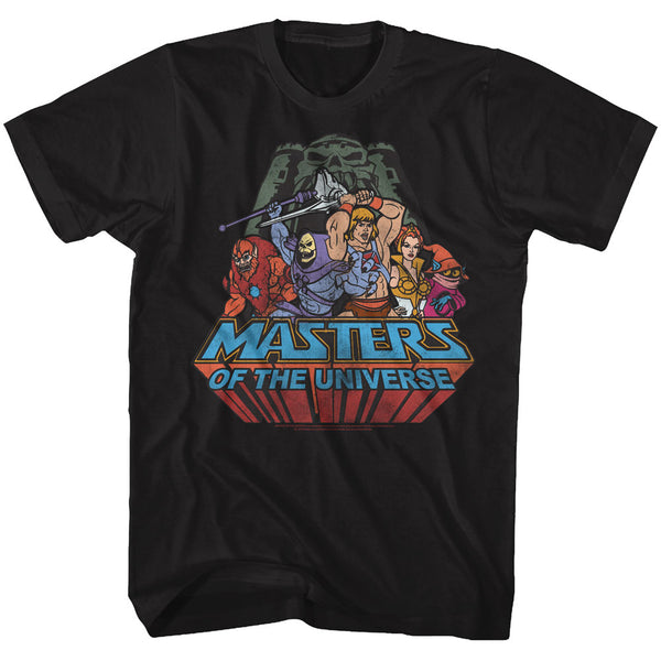 Masters of The Universe - TV Series Register Group Shot Adult T-Shirt Tee - Kryptonite Character Store