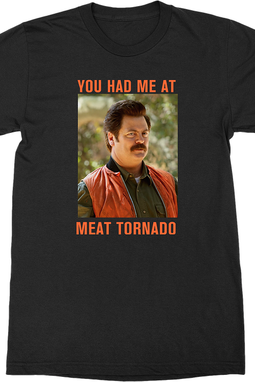 Parks and Recreation - Meat Tornado Adult Fitted T-Shirt