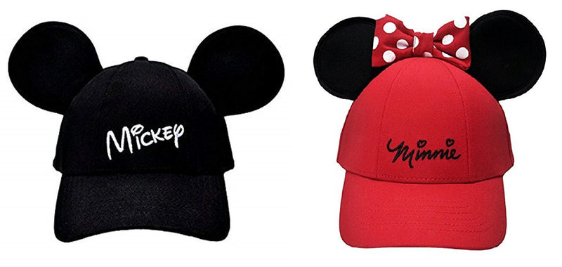 Disney - Mickey Mouse & Minnie Mouse Ears Cap Bundle - Kryptonite Character Store