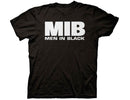 Men in Black - MIB Logo Adult Fitted T-Shirt - Black