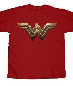 Justice League Wonder Woman Logo Men's Fitted T-shirt