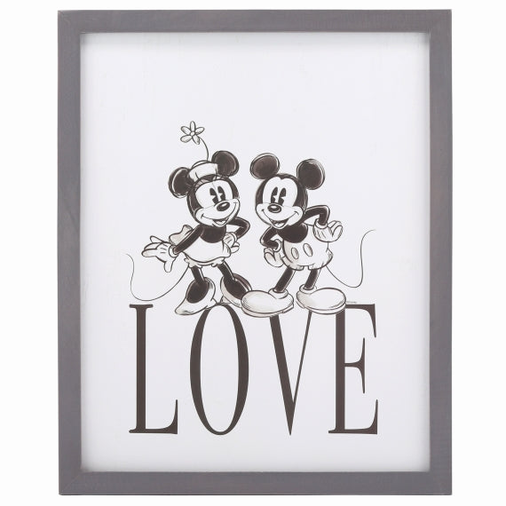 Mickey/ Minnie Love Framed  Wall Decor