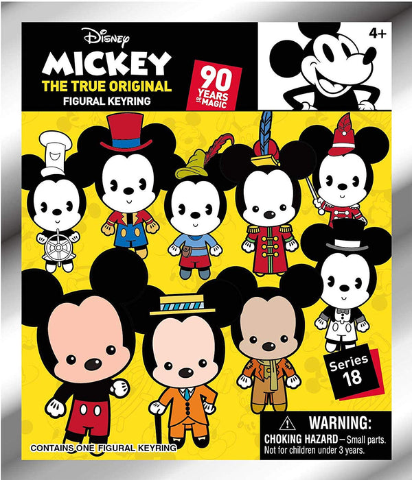 Mickey Through The Years -Series 18 - 3D Foam Key Ring Blind Bag - Kryptonite Character Store