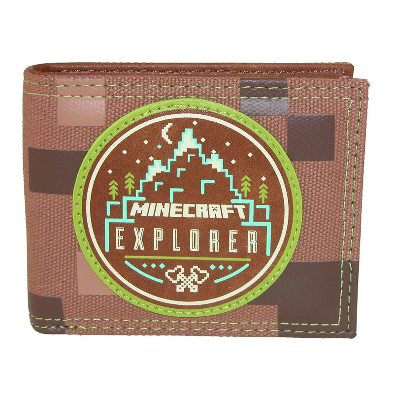 Minecraft Explorer Patch Kids Bi-fold Wallet - Kryptonite Character Store