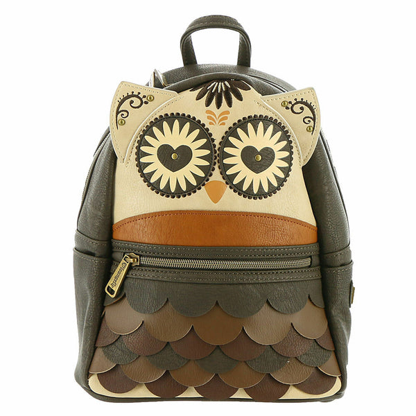 Loungefly Owl Mini Backpack Brown One Size- Kryptonite Character Store