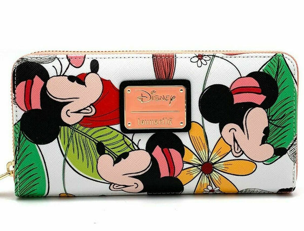 Loungefly x Disney Minnie Mouse Zip Around Wallet Flowers - Kryptonite Character Store