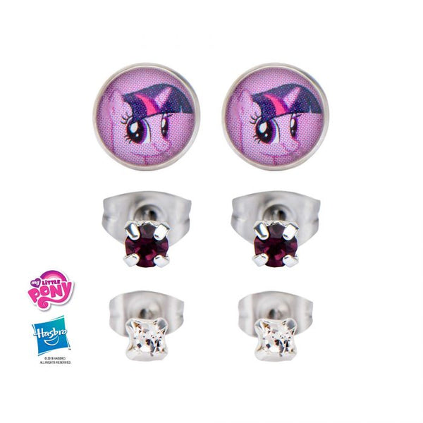 My Little Pony Twilight Sparkle Stud Earrings Set