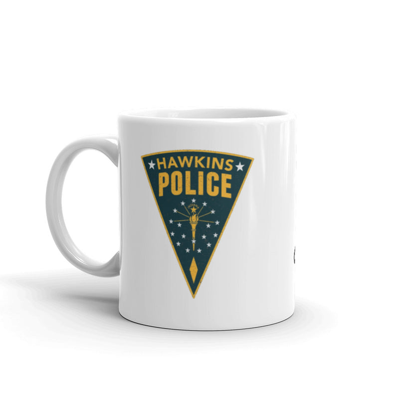 "Stranger Things Hawkins Sheriff Mug ""Mornings Are For and Contemplation"" - Kryptonite Character Store"