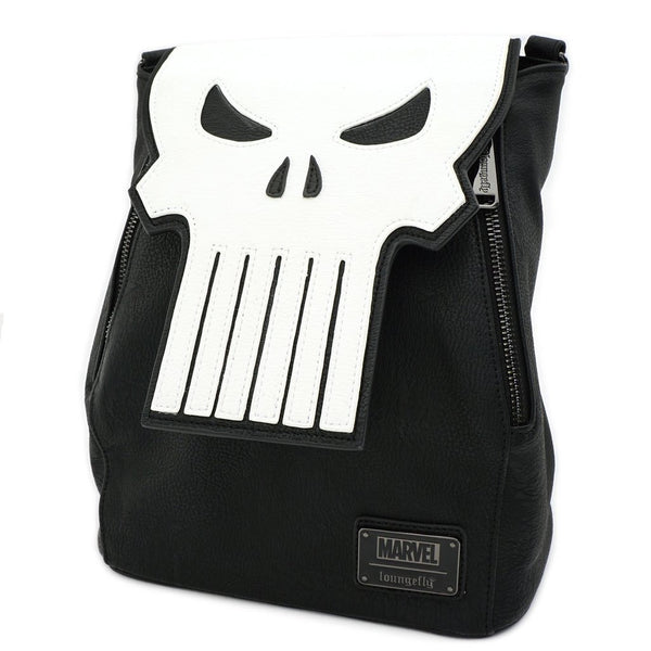 Marvel The Punisher Mini Faux Leather Backpack Loungefly