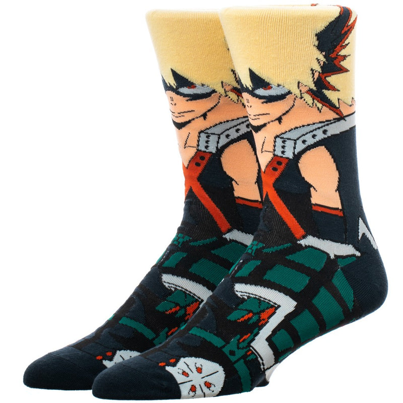 My Hero Academia - Bakugo 360 Character Crew Sock - Kryptonite Character Store