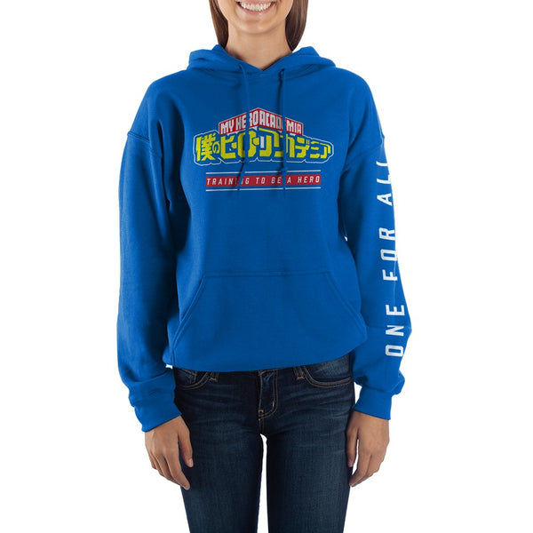 My Hero Academia - Fleece Adult Size Hoodie with Sleeve Print