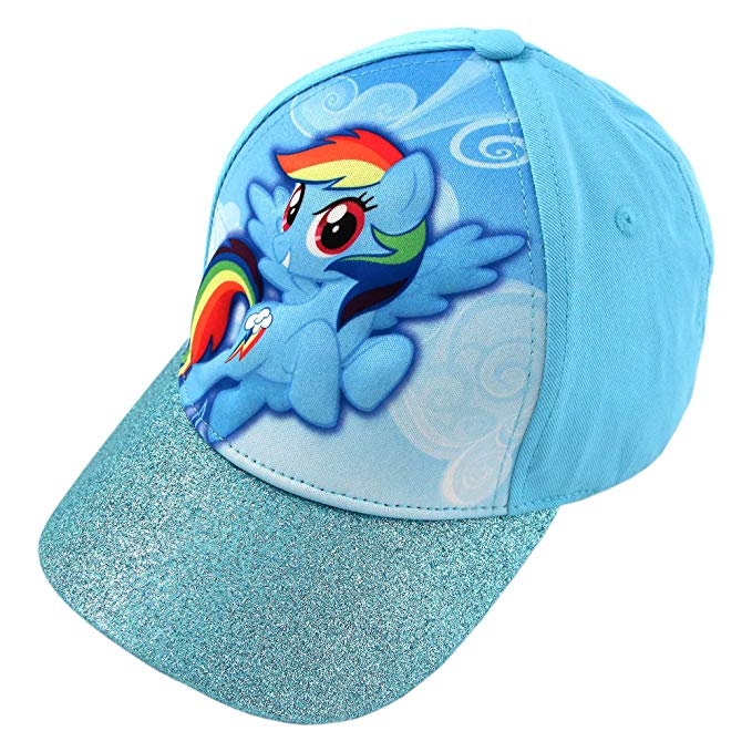 Hasbro Girls' My little Pony Rainbow Dash 3D Pop Baseball Cap Hat, Blue, Age 4-7 - Kryptonite Character Store