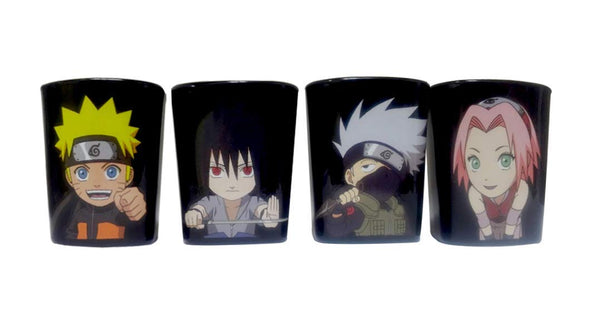 Naruto Shippuden Set of 4 Shot Glasses- Kryptonite Character Store