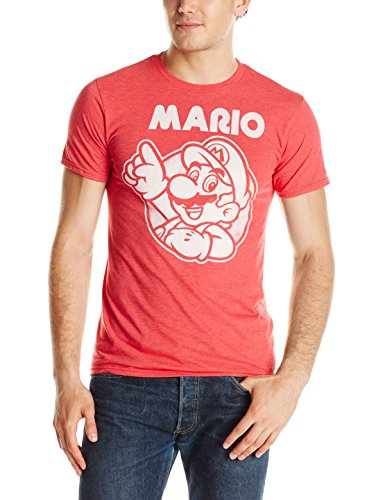 Nintendo So Mario T-Shirt, Red Heather T-SHIRT