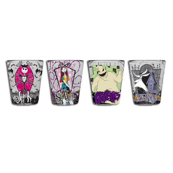 Disney Nightmare Before Christmas Mini Glass Set, 4-Pack - Kryptonite Character Store