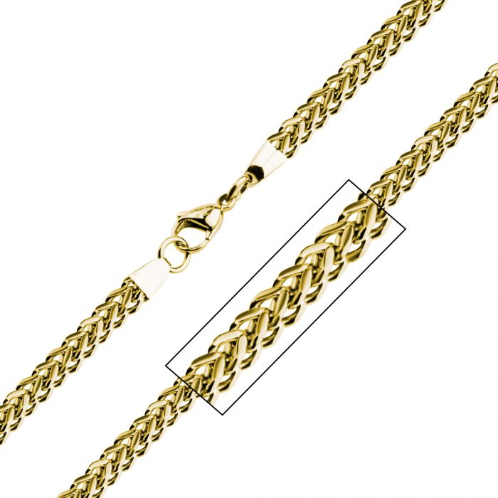 6mm Gold Plated Franco Chain