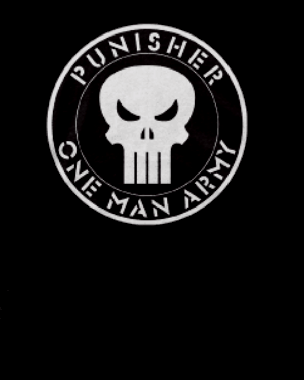 Marvel Comics - Punisher - One Man Army Adult Fitted T-shirts