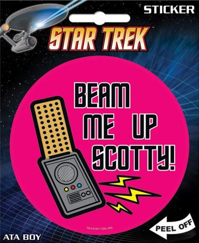 Star Trek - Beam Me Up Scotty Die Cut Vinyl
