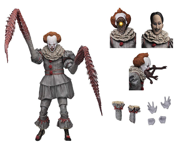 "IT - 7"" Scale Action Figure - Ultimate Pennywise The Dancing Clown (2017) - Kryptonite Character Store"