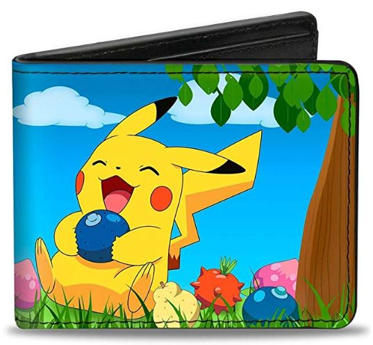 Pokemon- Pikachu Sitting Under Tree Laughing Wallet - Kryptonite Character Store
